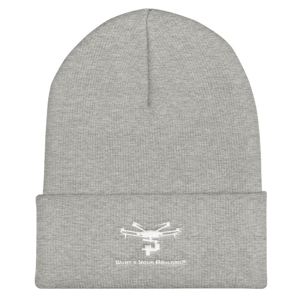 What's Your Payload Cuffed Beanie - Drone Wear