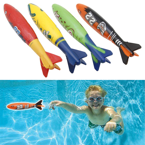 Torpedo Bandits 4 Piece Rubber Swimming Pool Toy