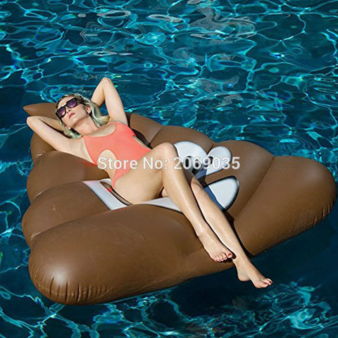 160cm Giant Poo Emoji  Inflatable Pool Float