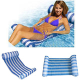 Stripe Water Bed Inflatable Hammock Swimming Pool Chair Float