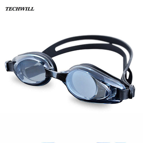 Adult Anti-Fog Flat Light Swimming Goggles
