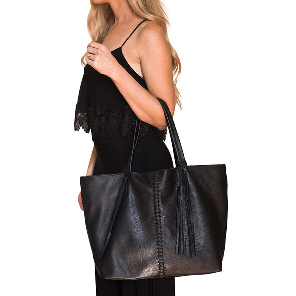 BRAID BAG-BLACK - Frankie Cameron