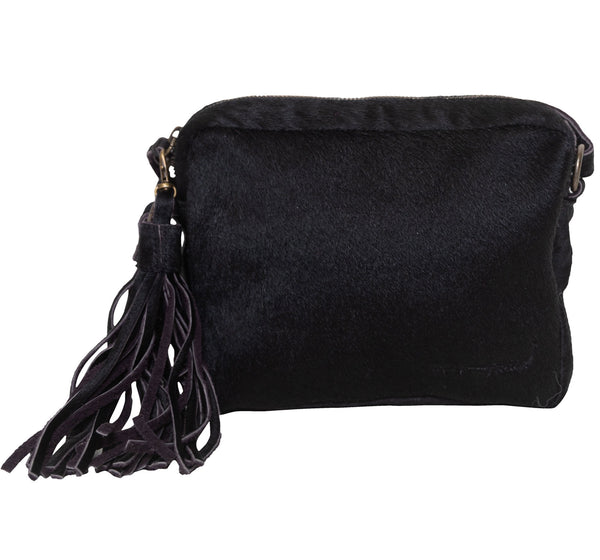 CROSS BODY- BLACK HIDE - Frankie Cameron