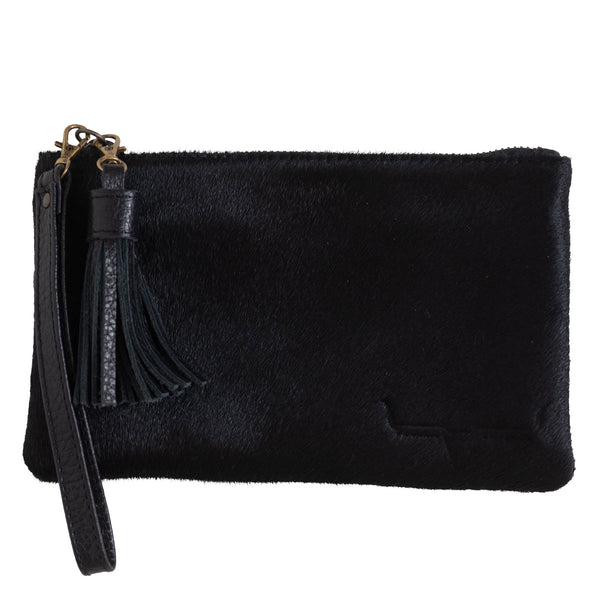 MINI CLUTCH- BLACK HIDE - Frankie Cameron