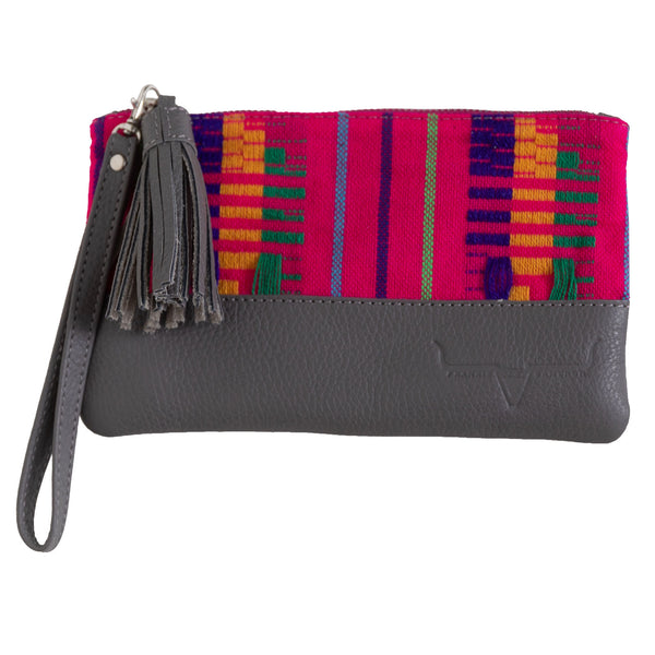 MINI CLUTCH- PINK PATTERN - Frankie Cameron