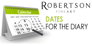 Dates For The Diary! Confirmed Events at Robertson Fine Art For 2019