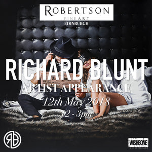 12/05/18 - Meet The Man In The Fedora Hat.. Richard Blunt Artist Appearance At Robertson Fine Art