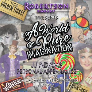 JJ Is Back In Edinburgh On Saturday The 29th Of September For A World Of Pure Imagination!
