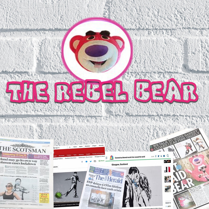 The Mysterious Masked Artist Who's Been Making Headlines... Introducing The Rebel Bear