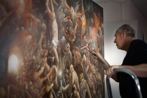 peter howson at work