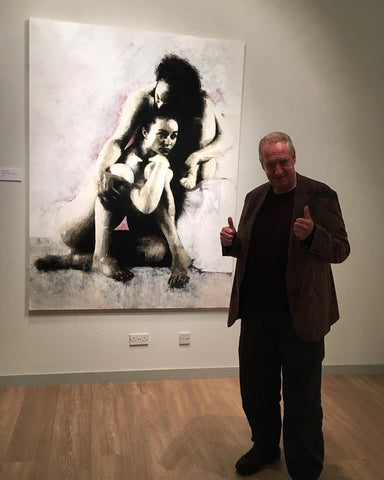 Peter Howson Thumbs up for James Klinge