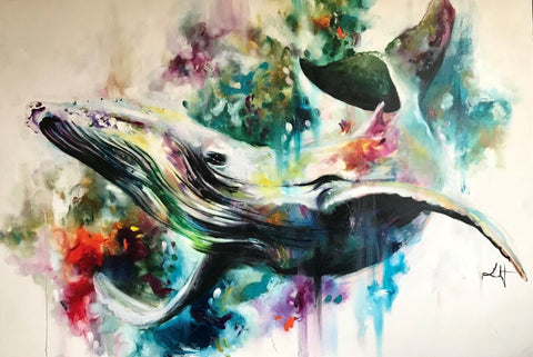 Humpback Signed Limited Edition Print by Katy Jade Dobson