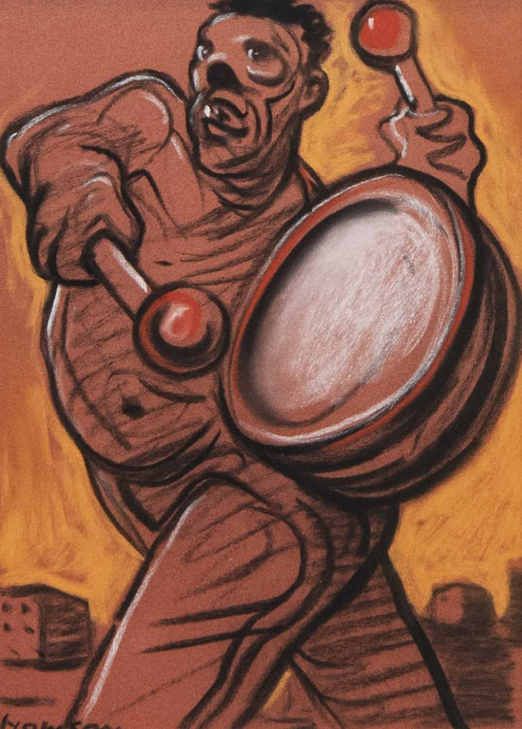 Original Strutting Drummer by Peter Howson