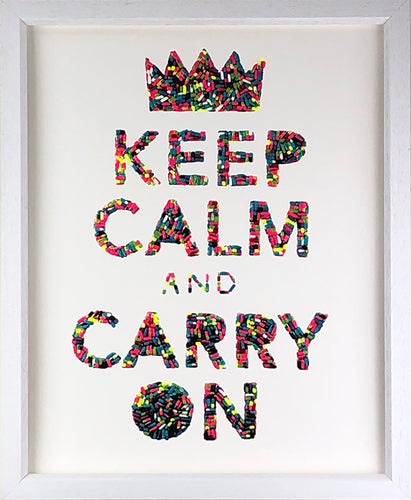Keep Calm Screenprint by Emma Gibbons