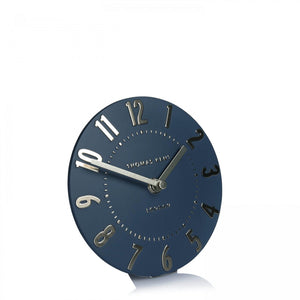 "Thomas Kent 6"" Mulberry Mantle Midnight Blue Clock"