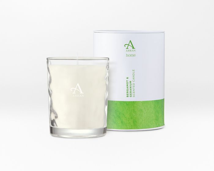Bergamot & Geranium Large Candle by Arran Aromatics