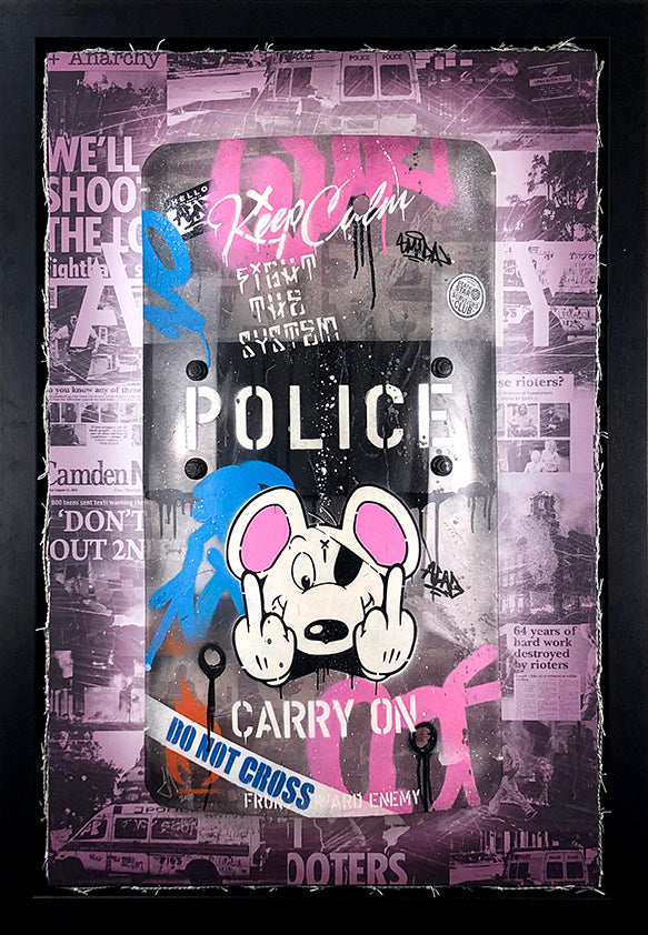 I Predict A Riot - Danger Mouse Riot Shield by JJ Adams