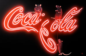 Rats Fixing Coca Cola by The Mad Artist