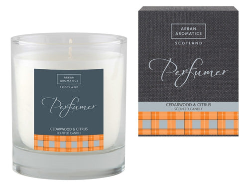 Perfumer Candle - Cedarwood & Citrus 30cl by Arran Aromatics