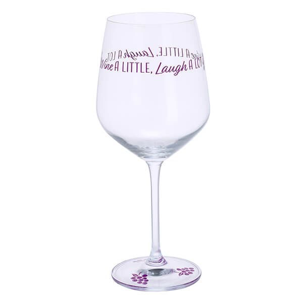 Wine a Little, Laugh a Lot Wine Glass by Dartington