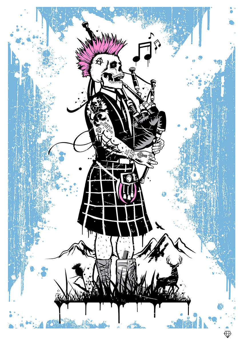 Ghost Piper exclusive edition for Robertson Fine Art by JJ Adams