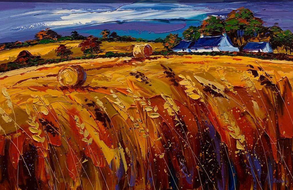 Original Windy Wheatfields by Lynn Rodgie