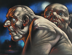 Original Viscount II Pastel by Peter Howson