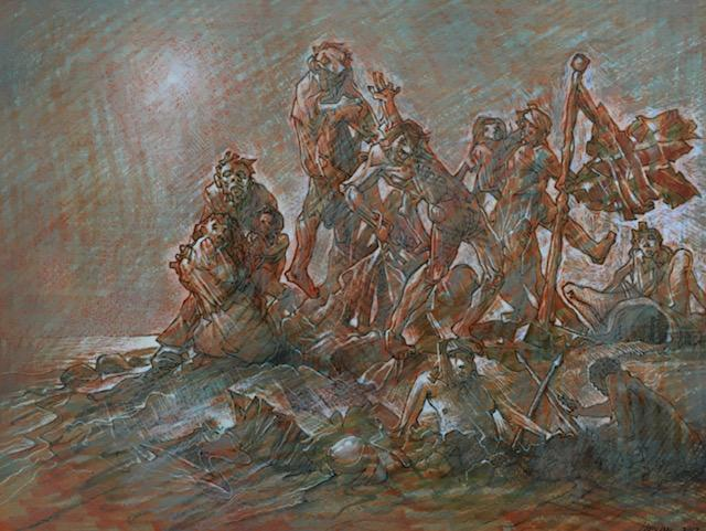 Original Surge by Peter Howson