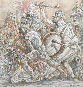 Original My Brothers Union by Peter Howson