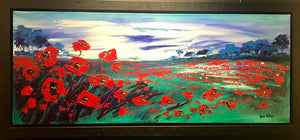 Original Poppies In The Wind by Lynn Rodgie