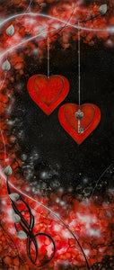 Love Is The Key Red and Silver by Kealey Farmer