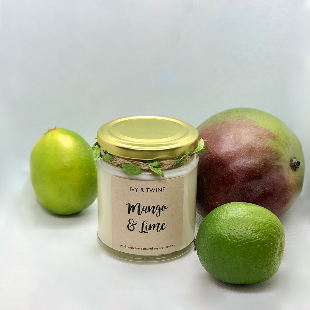 Mango & Lime (190g) Candle from Ivy & Twine