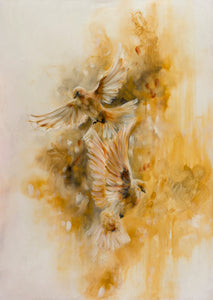 Gold Birds - Ochre by Katy Jade Dobson