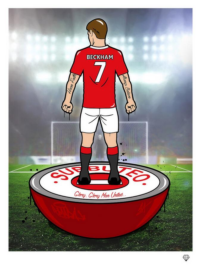 David Beckham Subbuteo Player by JJ Adams