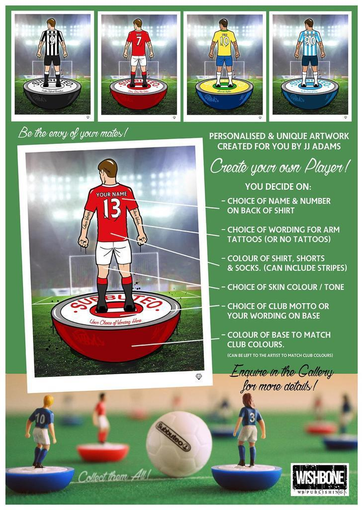 He Shoots, He Scores - Custom Subbuteo Football Players by JJ Adams
