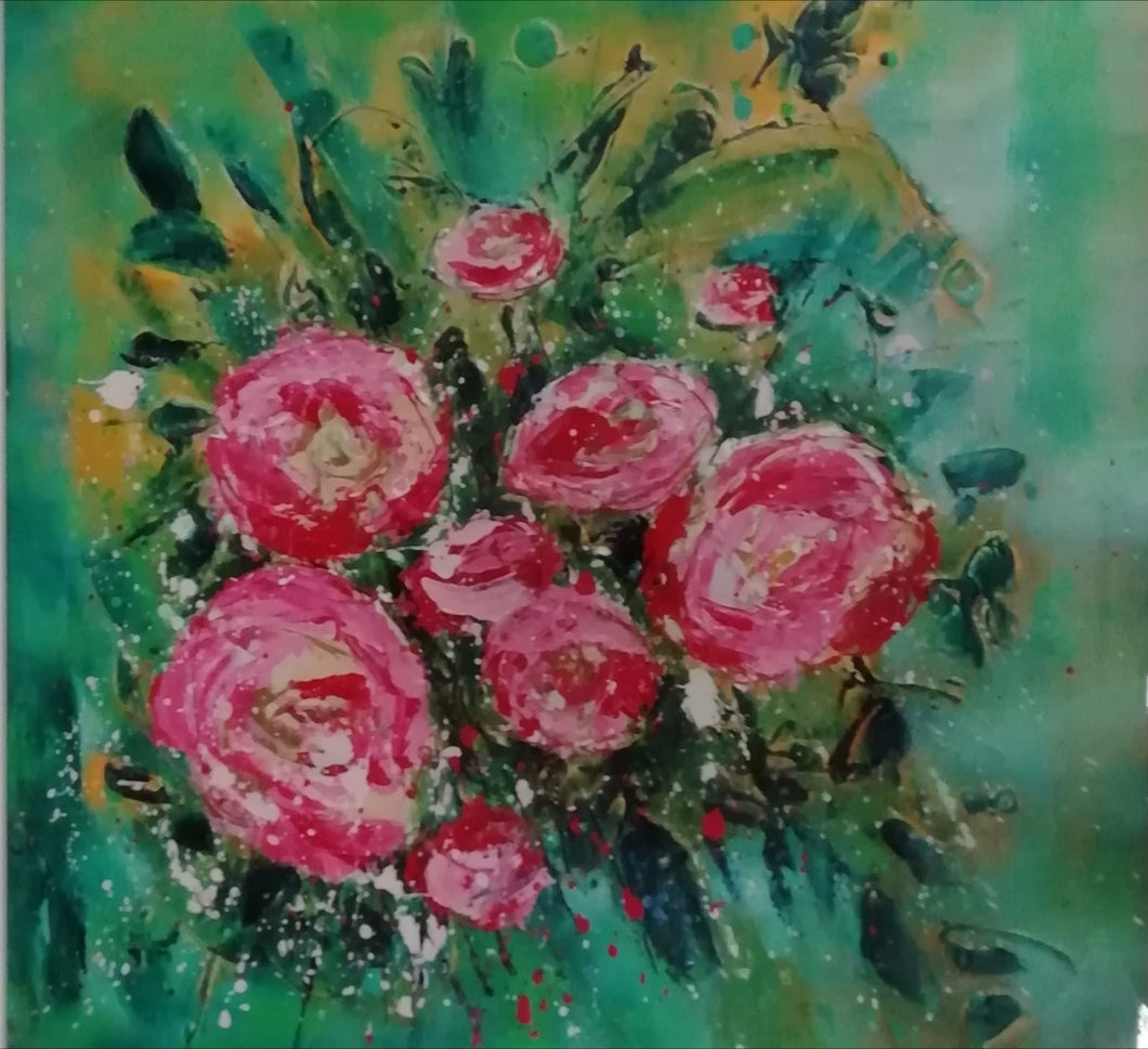 Original Bunch Of Roses by Lynn Rodgie