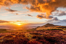 Sun, Hill And Heather by John Pow