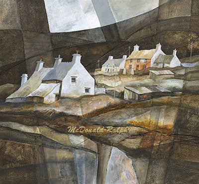Beach Cottages III by Gillian McDonald