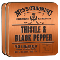 Thistle & Black Pepper Face & Beard Soap by The Scottish Fine Soaps Company
