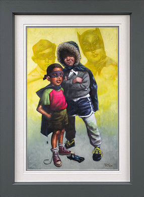 Caped Crusaders Lenticular by Craig Davison (batman and robin)