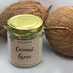 Coconut Grove (190g) Candle from Ivy & Twine