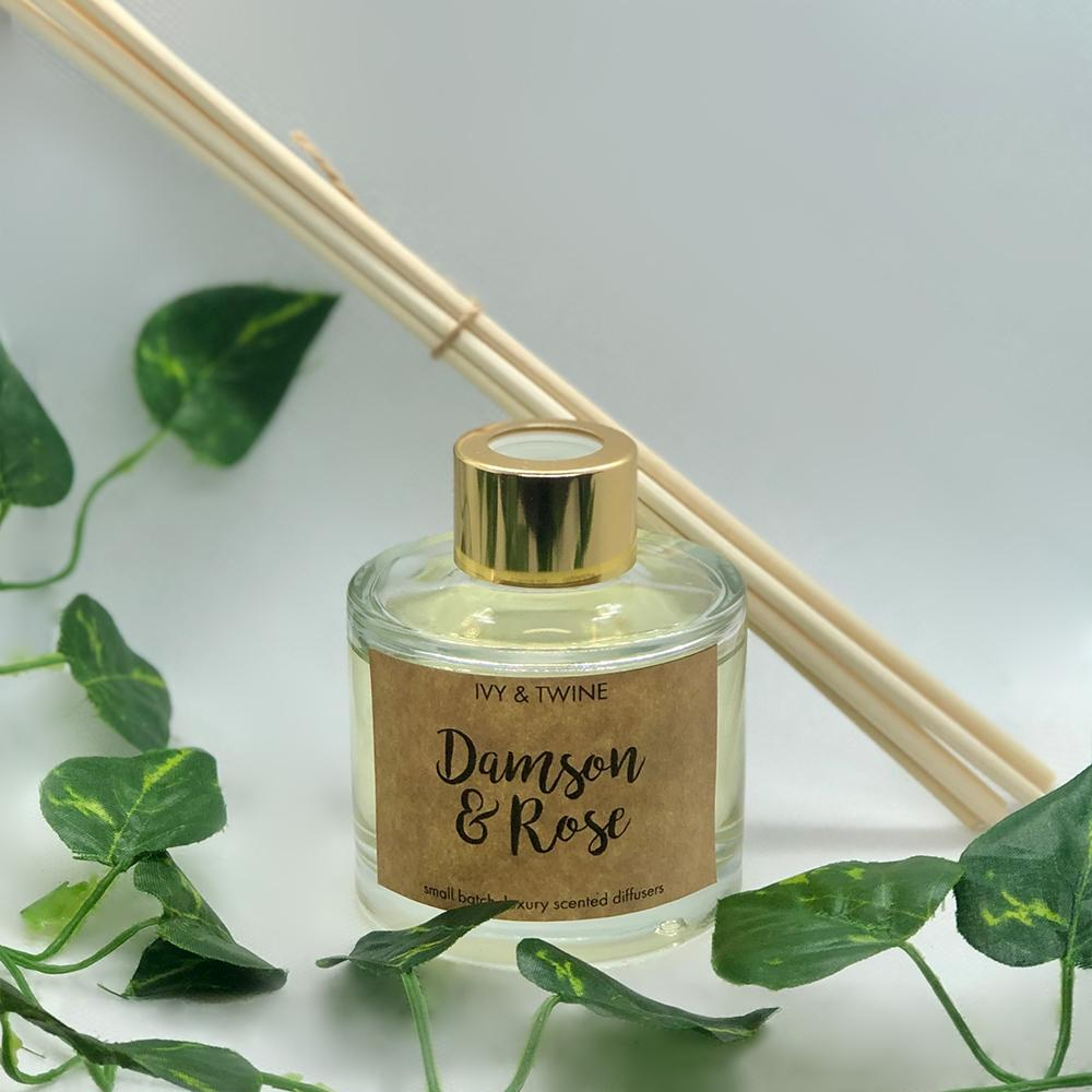 Damson & Rose (100ml) Diffuser from Ivy & Twine