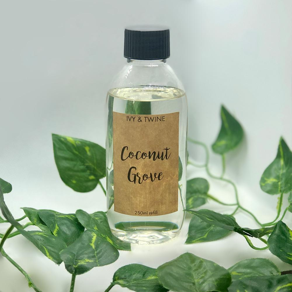 Coconut Grove (250ml) Diffuser Refill from Ivy & Twine