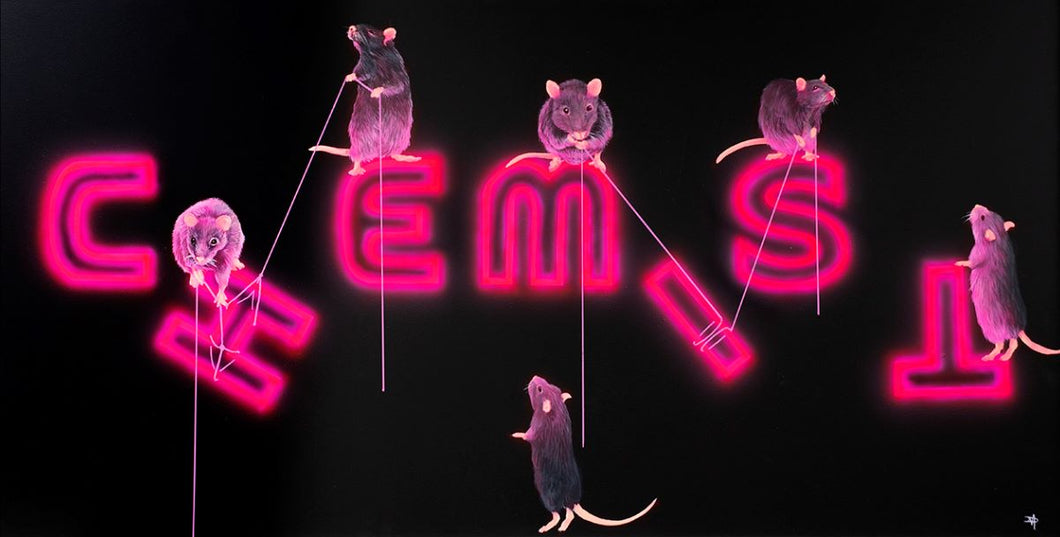 Rats Fixing The Chemist by The Mad Artist