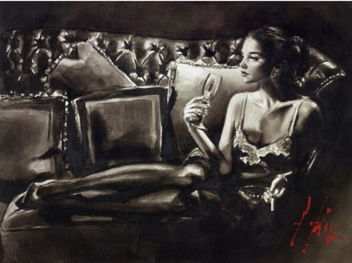 Original Eugenia Ink on Paper by Fabian Perez