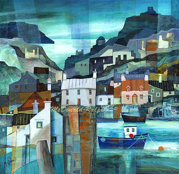 Fishing Village VI by Gillian McDonald
