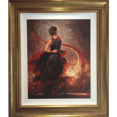 Original Flamenco Red and Black  by Mark Spain