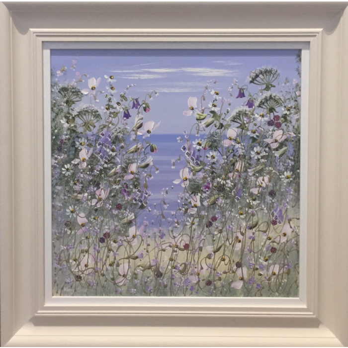 Original Floral Sea View by Mary Shaw