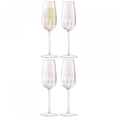 Pearl Champagne Flute 250ml Mother of Pearl x 4 - LSA