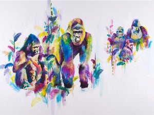 Gorillas in the mist by Katy Jade Dobson